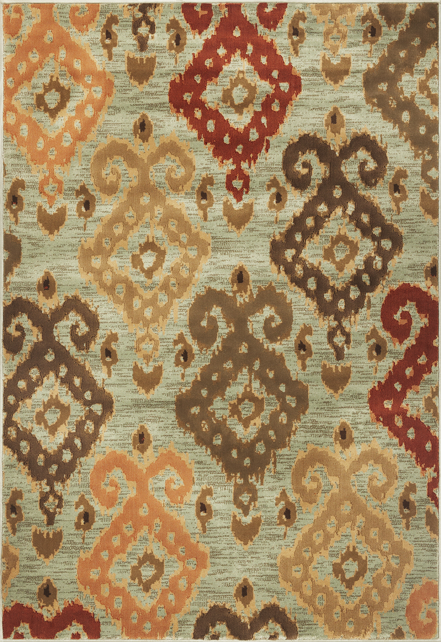 Geneva 9411 Blue Allover Ikat Rug By Kas