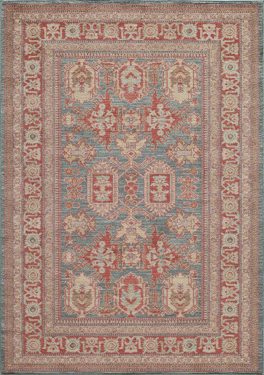 momeni ghazni gz01 blue rug - Momeni Rugs
