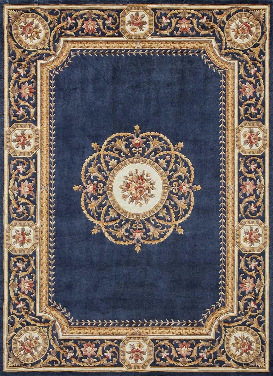 momeni harmony ha12 blue rug - Momeni Rugs