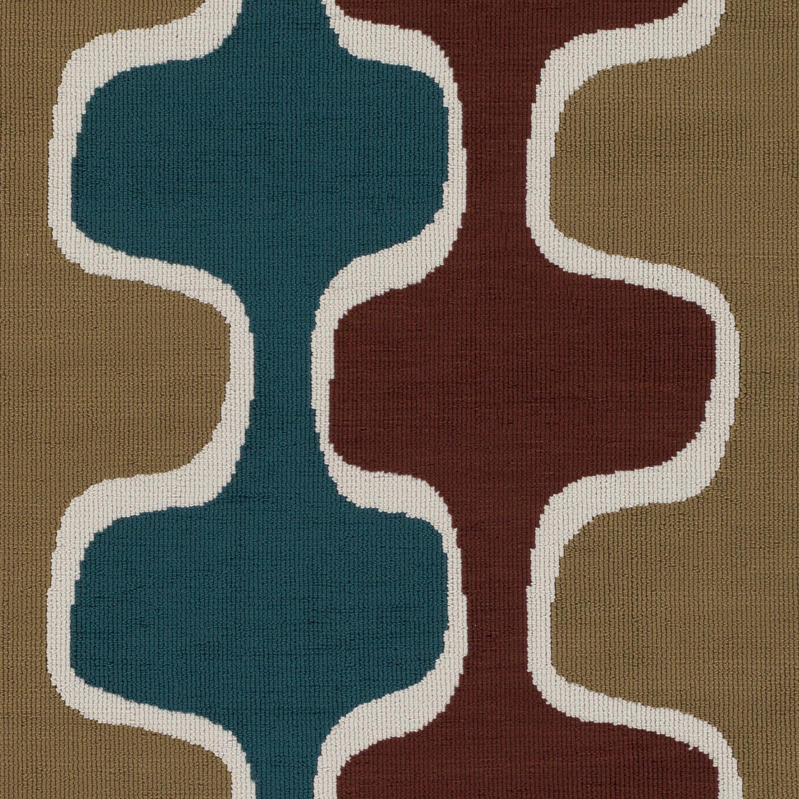 Artistic Weavers Joan JOAN-6069 Clermont Teal/Rust/Gold Rug