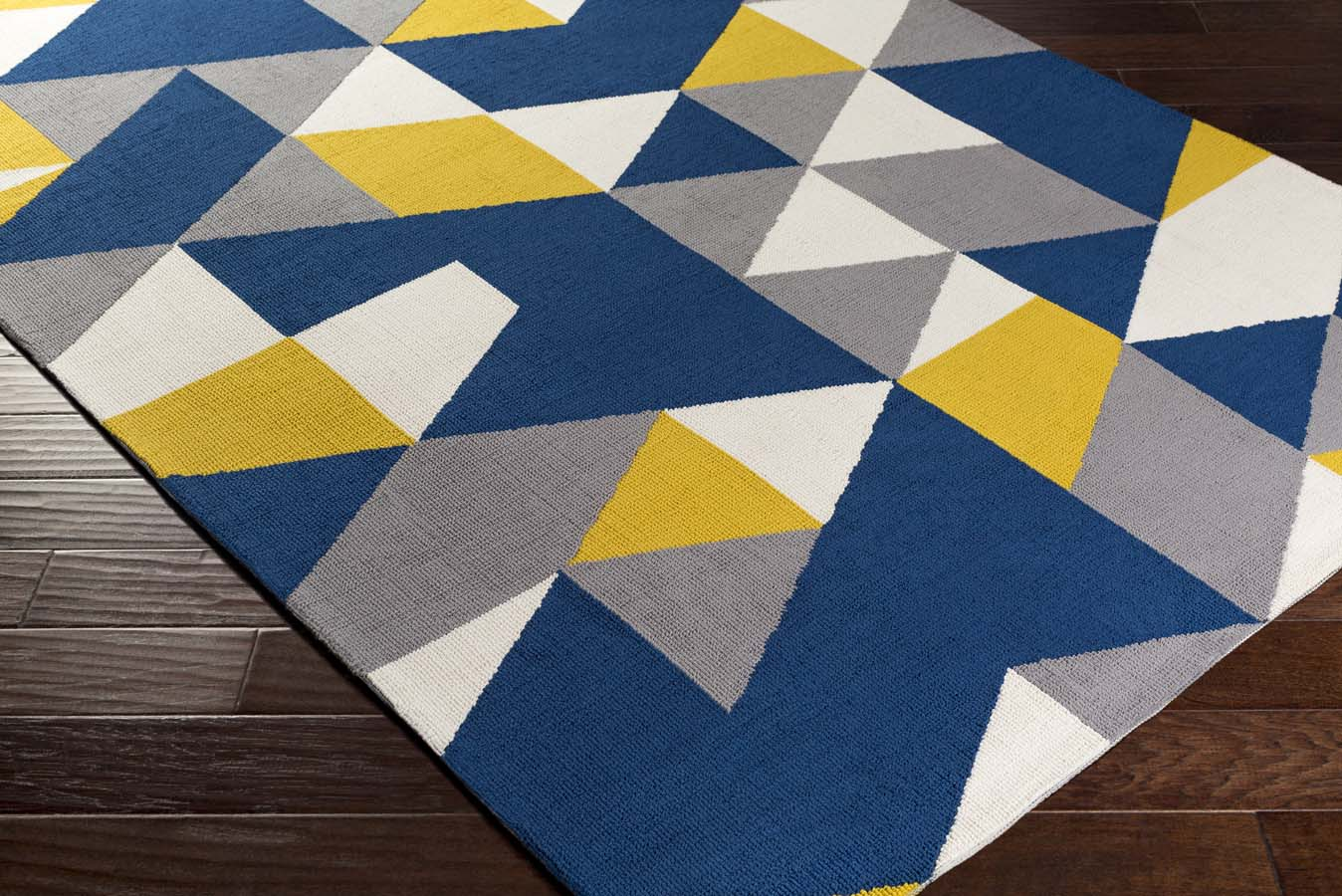 Artistic Weavers Joan 6087 Fulton Navy Blue Yellow Gray Rug
