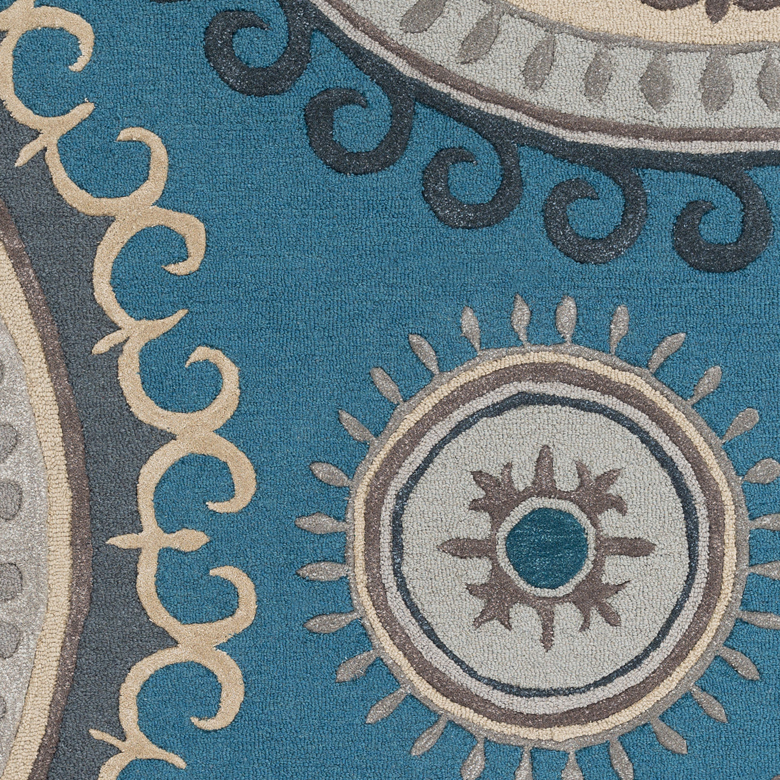 Artistic Weavers LOUNGE LGE-2239 Alanna Teal/Grey Rug