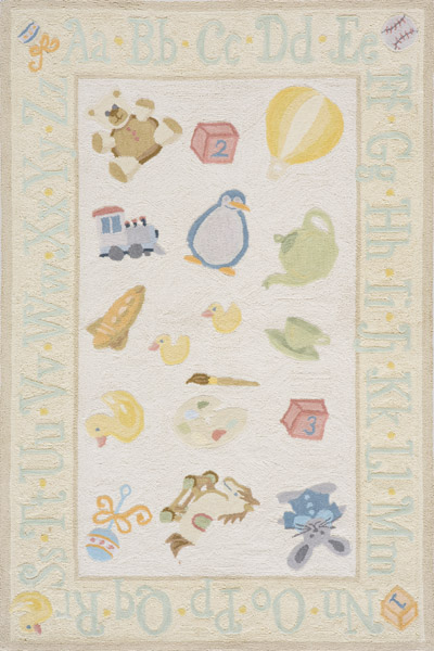 Lil Mo Classic LMI-02 Pale Yellow Rug by Momeni