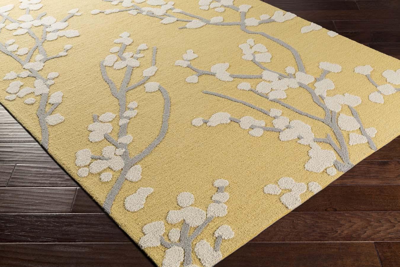 Artistic Weavers Marigold Mrg 6028 Caroline Yellow Gray