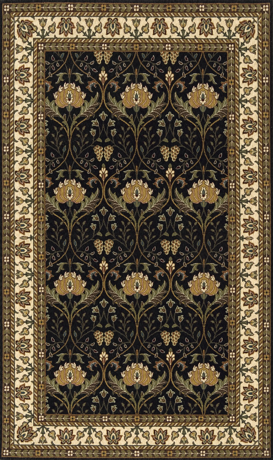 Momeni persian garden pg 12 charcoal rug for Momeni rugs
