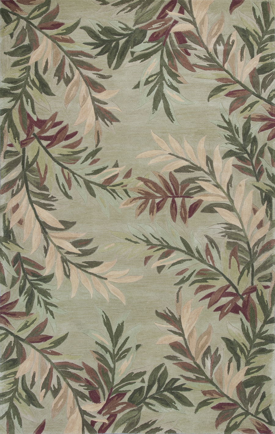 Sparta Tropical Branches 3144 Sage Rug by Kas