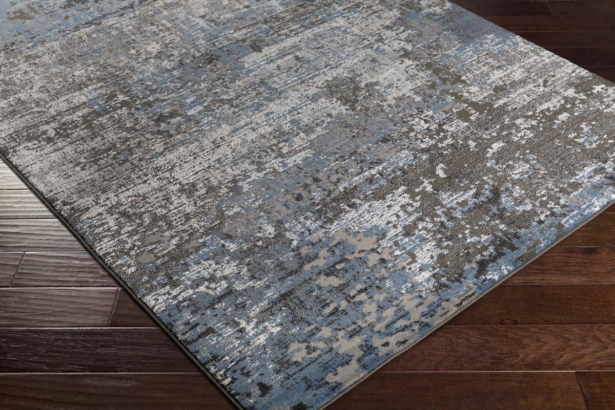 Artistic Weavers Savage Svg 8001 Jace Denim Blue Charcoal Rug