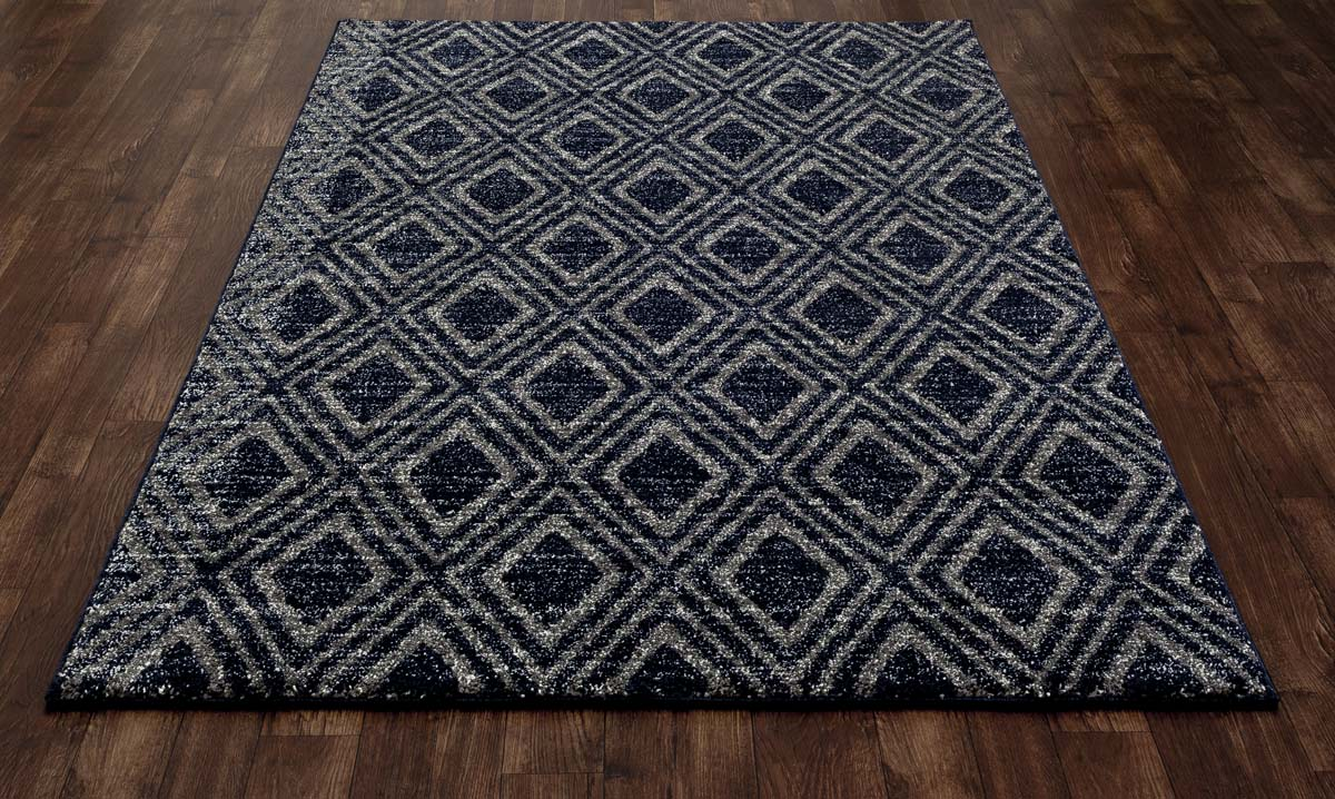 Zelot Diamond Grid Gray Rug