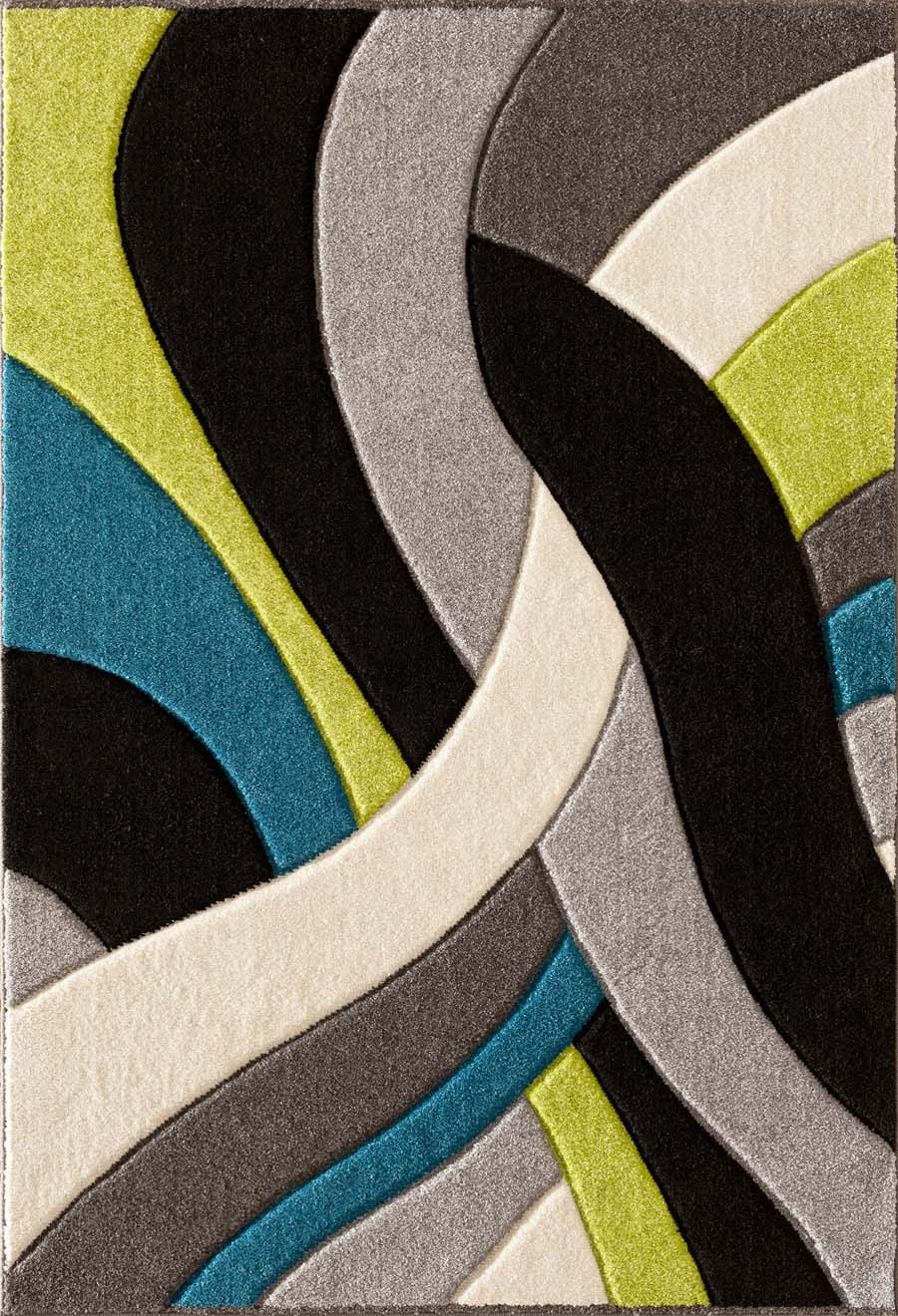 High Quality Payless Rugs Alpha 1703.37 Tangles Lime Multi Rug