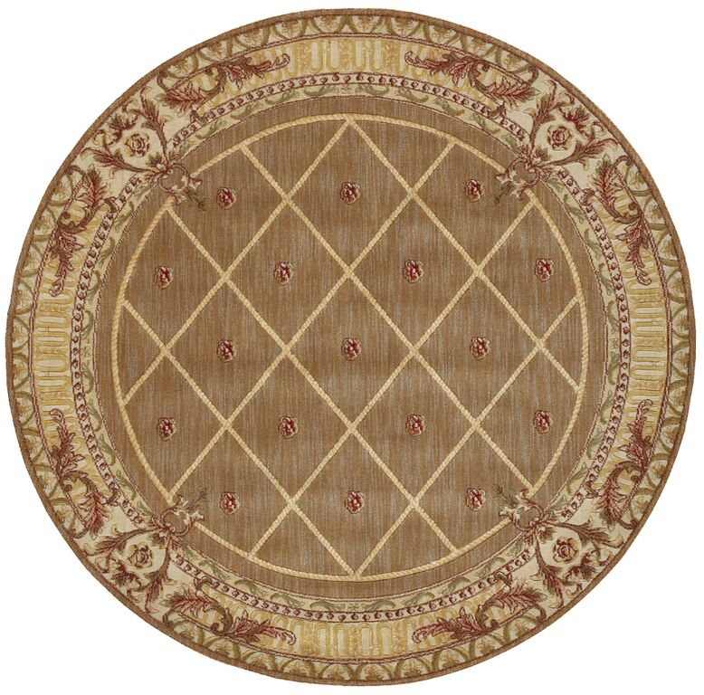 Round Ashton House AS03 Cocoa Rug by Nourison