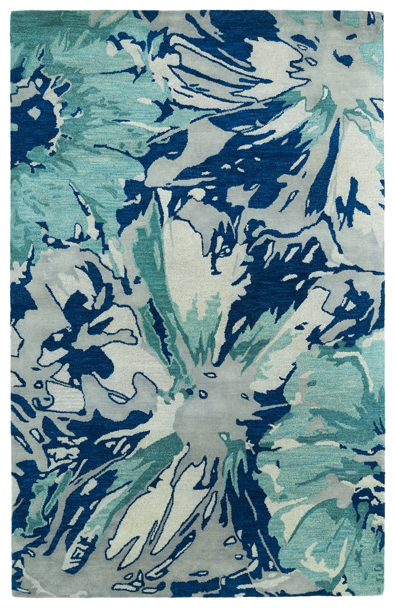 Kaleen Brushstrokes Brs06 17 Blue Area Rug