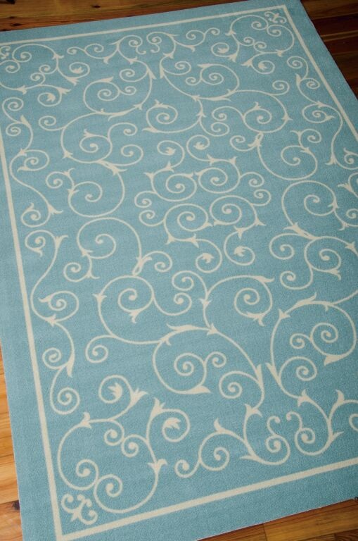 Home And Garden RS19 Light Blue Outdoor Rug by Nourison