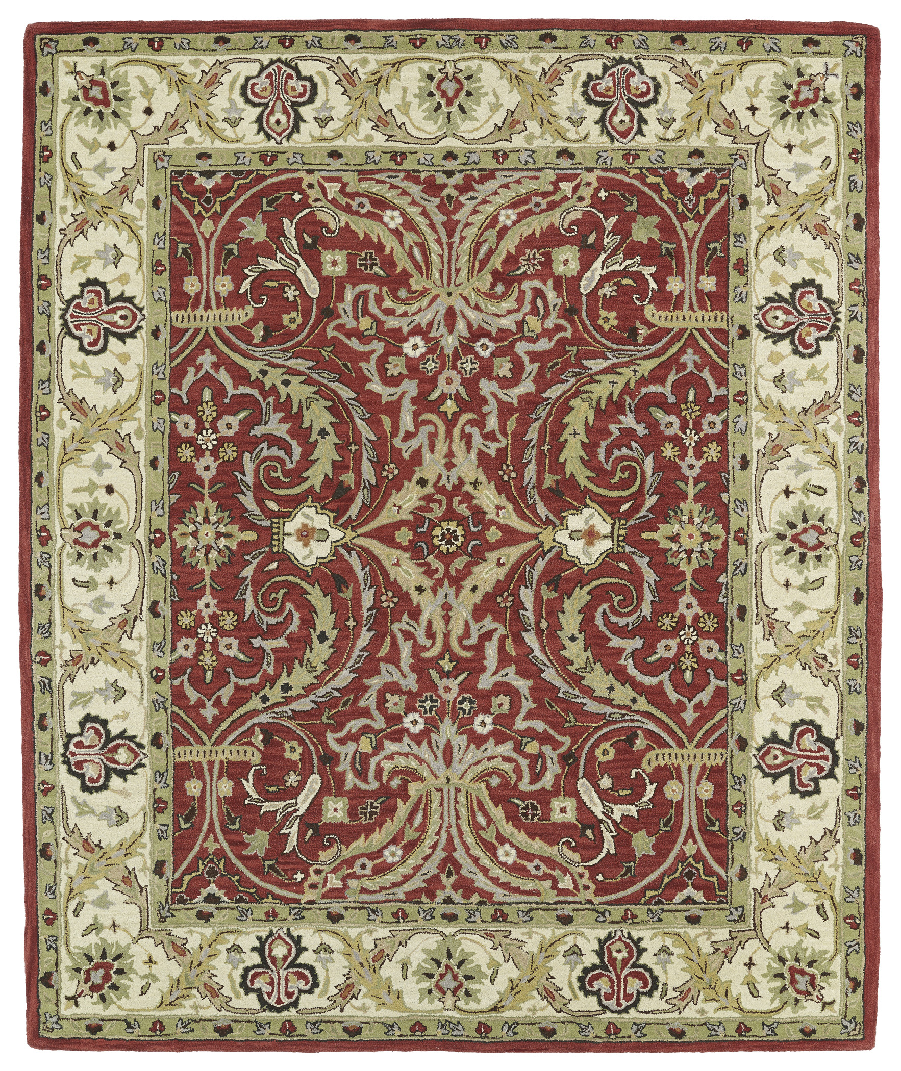 Kaleen Taj Taj11 25 Red Area Rug