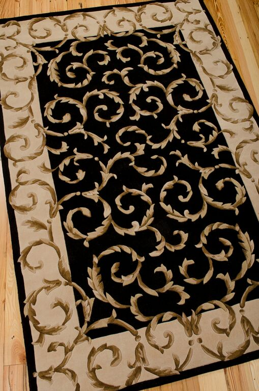Versailles Palace VP43 Black Rug by Nourison