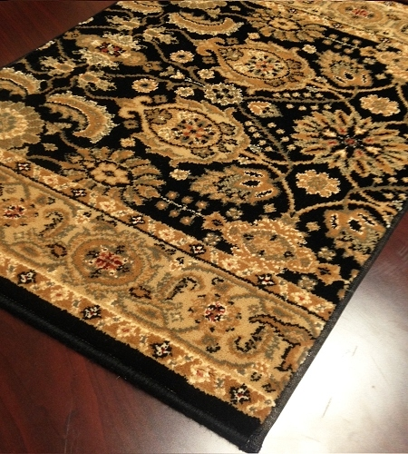 Royal Kashimar All Over Vase 8132/2606 Black Deep Maple Carpet Stair Runner