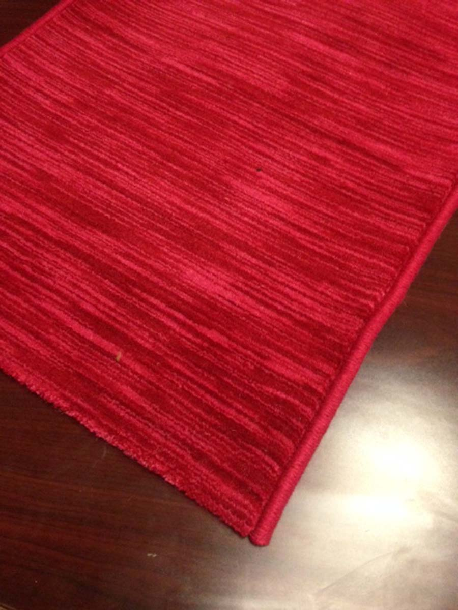 Solid Burgundy Red Hallway and Stair Runner