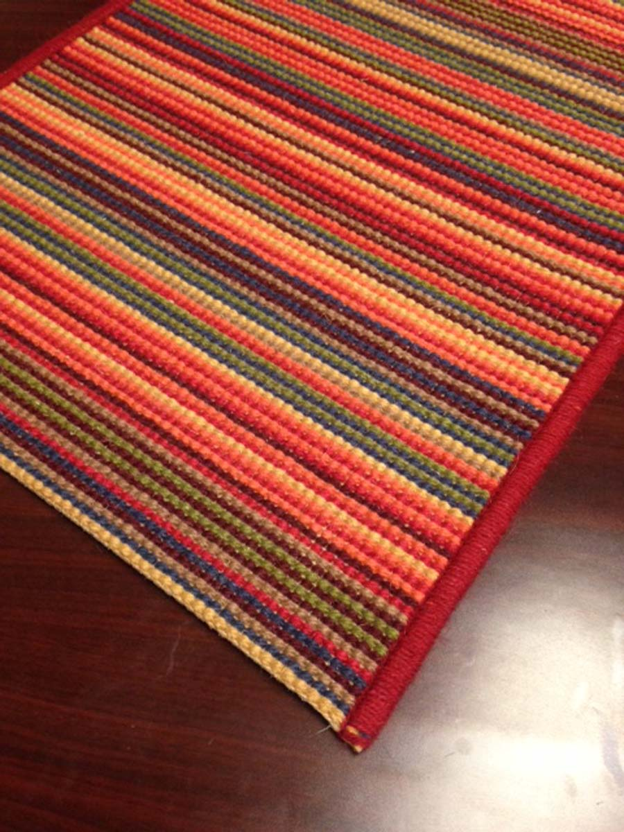 Starburst 6890 Red Multi Hallway and Stair Runner