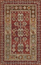 Momeni Tangier TAN-1 Red Rug