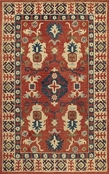 Momeni Tangier TAN-3 Red Rug