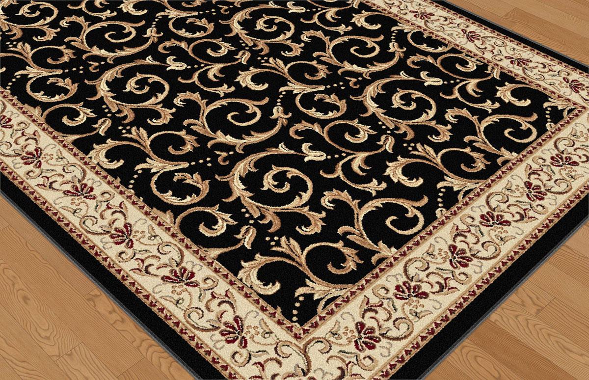 Tayse Elegance Elg5403 Black Rug