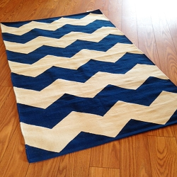 Payless Rugs Clearance Navy Flatweave Area Rug - 3 ft x 5 ft