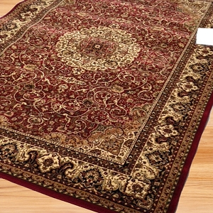 Payless Rugs Clearance World Wine Area Rug - 5 ft 3 in x 7 ft 7 in