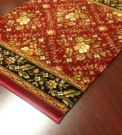 Bainbridge Trellis Cb64 0002a Ruby Floral Carpet Stair Runner