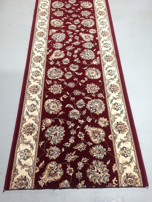 Silhouette Burgundy 31 Inch Wide Finished Runner Price