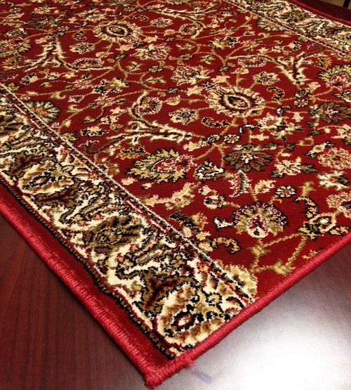 Cersei 2067cn Persian Flower Crimson Carpet Hallway And