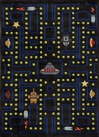 Lil Mo Whimsy LMJ-14 Arcade Black Rug by Momeni