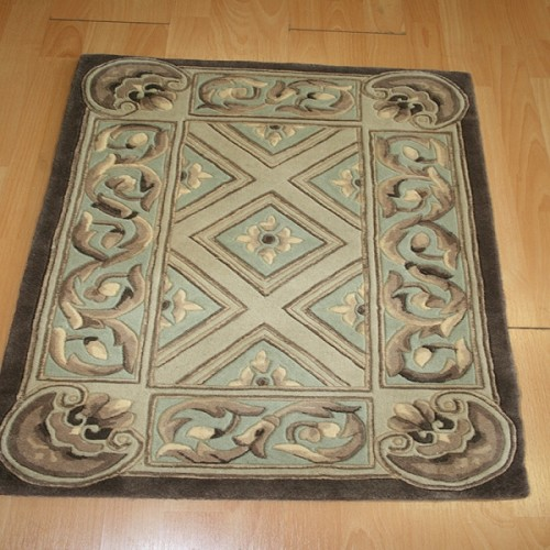 2 x 3 Wool Hand Carved Entry Rug