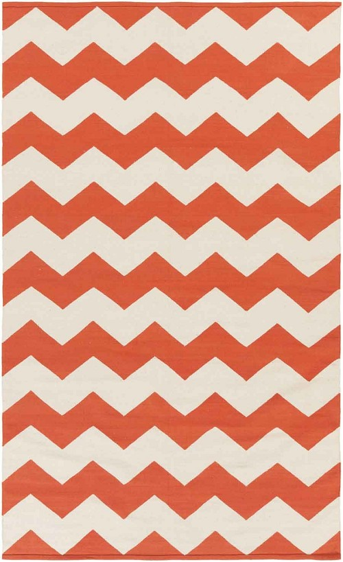 Artistic Weavers Vogue Collins AWLT3018 Coral/White Area Rug