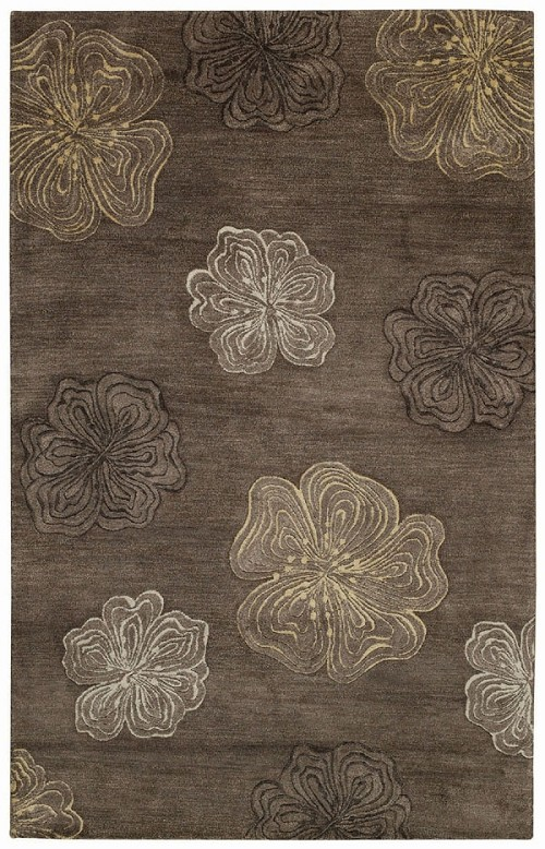 Hibiscus Brown Desert Plateau Rug by Capel