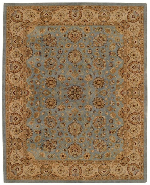 Medium Blue Gold Forest Park Rug by Capel