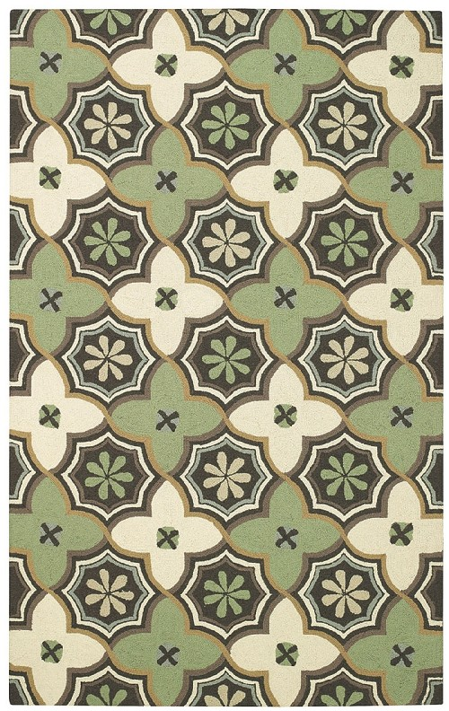Capel Intrique Medallion 6053 240 Green Rug