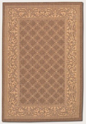 Recife Collection by Couristan: Garden Lattice Cocoa Nautral 1016/3000 Recife Outdoor Rug by Couristan