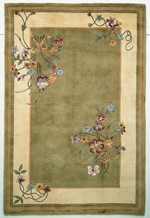 Kas Ruby 8937 Sage Bouquet Rug