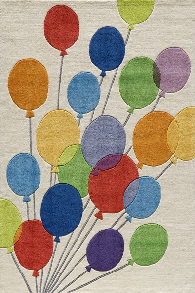 Lil Mo Whimsy LMJ-16 Multi Baloons Rug by Momeni