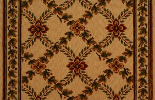 Beige Carpet Stair Runner Woodland Trellis Royal Luxury