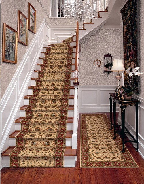 Persian Garden Pg 10 Ivory Carpet Hallway And Stair Runner