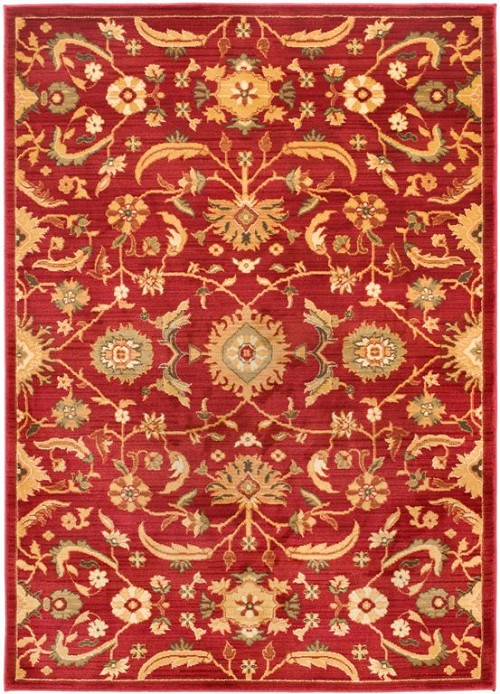 Safavieh heirloom hlm1671 red gold area rug for Red and gold area rugs