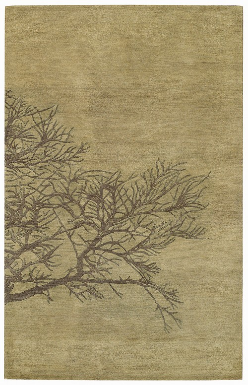Shadow Branch Green Moss Desert Plateau Rug by Capel