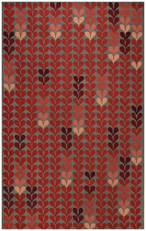 Capel Hearts 6024 550 Red Rug