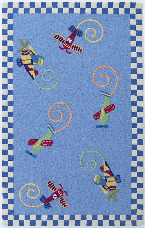 Kidding Around 417 Flying Fun Rug by Kas