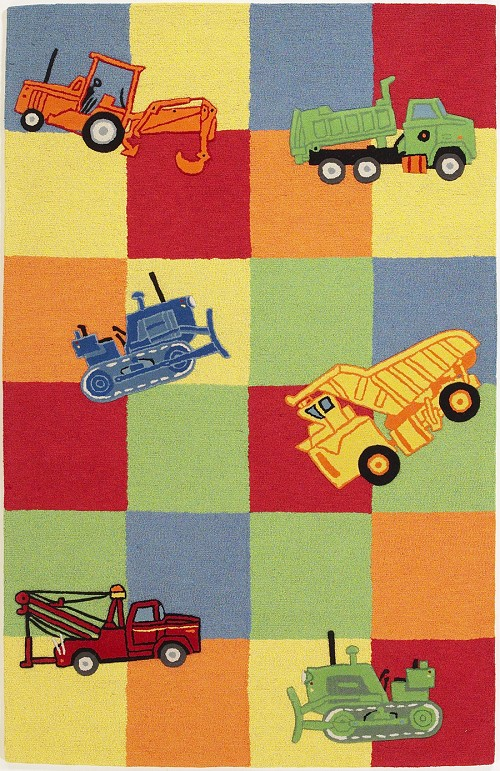 Kidding Around 424 Trucks Galore Rug by Kas