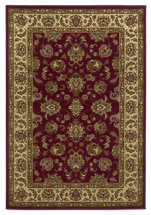 Lifestyles 5431 Red/Ivory Kashan Rug by Kas
