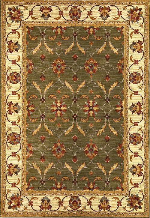Lifestyles 5470 Green Ivory Agra Rug by Kas