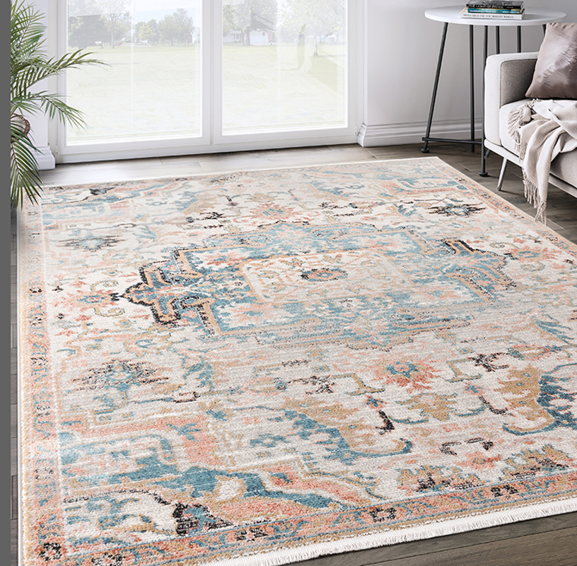 Prestige Weavers Azure Collection AZR110A Beige Faded Vintage Persian  Area Rug
