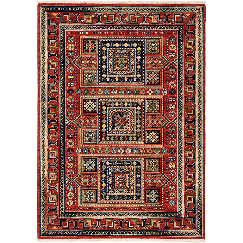 Oriental Weavers Lilihan 002C6 Red Multi Traditional Area Rug