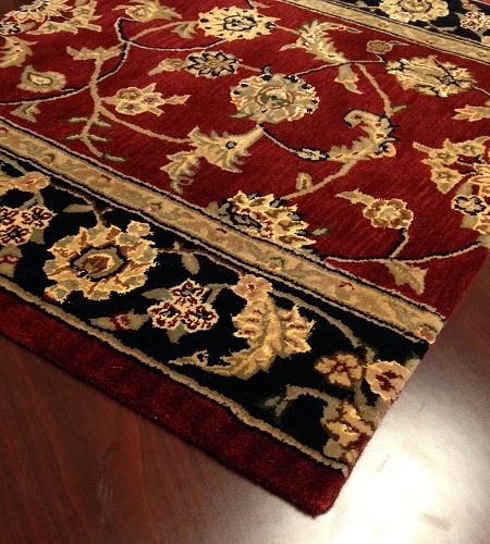 Nourison 2000 2002 Burgundy Traditional Carpet Stair Runner